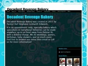 Decadent Revenge Bakery is an appointment only bakery located in Delmar, Iowa. We will deliver to yo